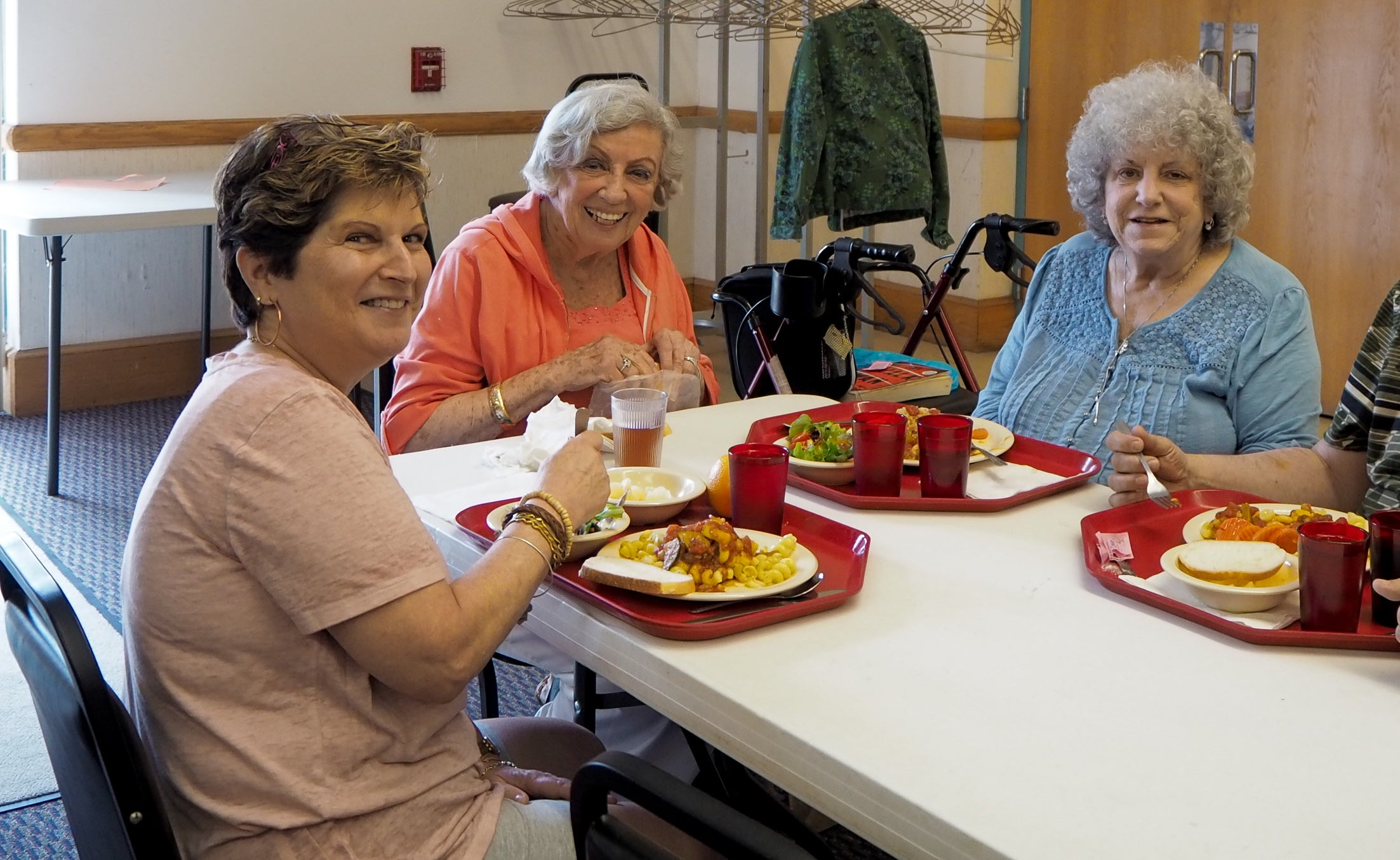 Older adults at table
