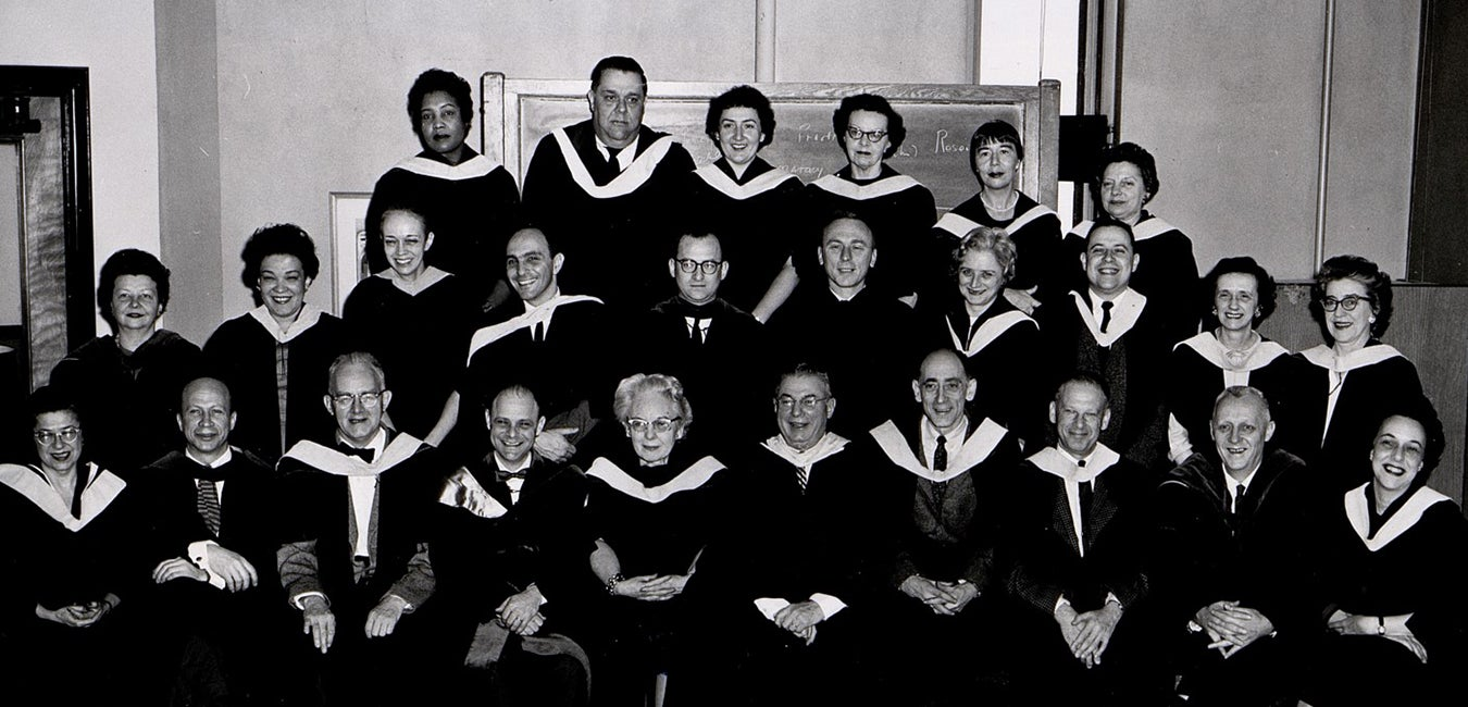 Faculty photo from 1950s