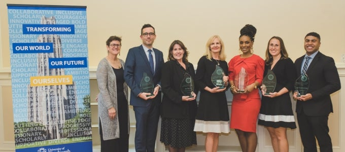2109 alumni award winners with Dean Farmer