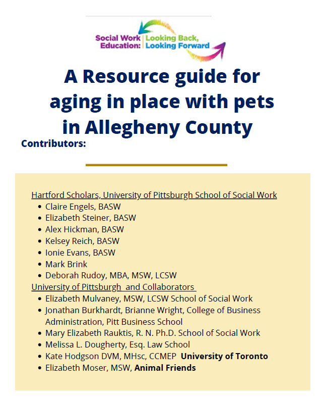 Aging and pet guide cover page