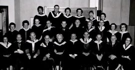 Photo of the faculty from the 1950s