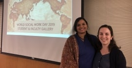 Students on World Social Work Day